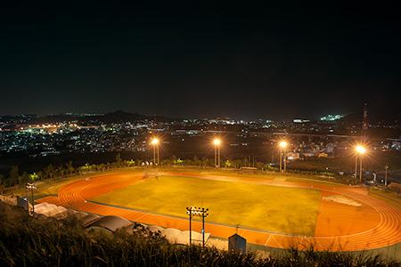 黄金森公園の夜景
