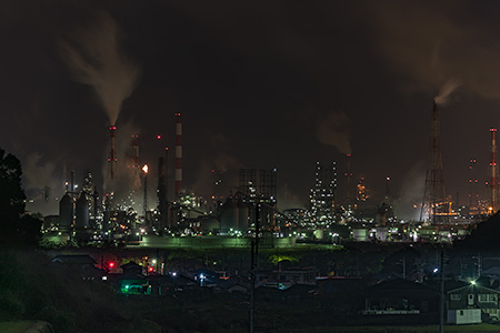 児島宇野津の棚田の夜景