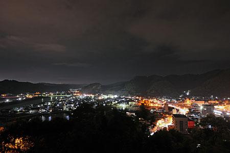 古城山公園の夜景