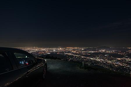 米の山展望台の夜景