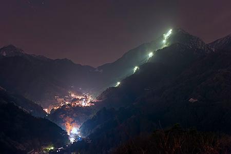 菰野富士の夜景