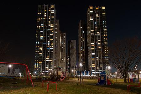 港南緑水公園の夜景