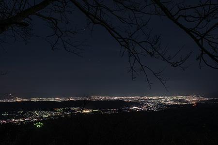 パノラマ駐車場近く 信貴生駒スカイラインの夜景