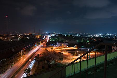 コリンザ 屋上展望台の夜景