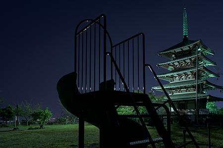 香陵台公園の夜景