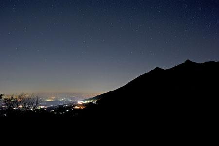 子授け地蔵 表筑波スカイラインの夜景