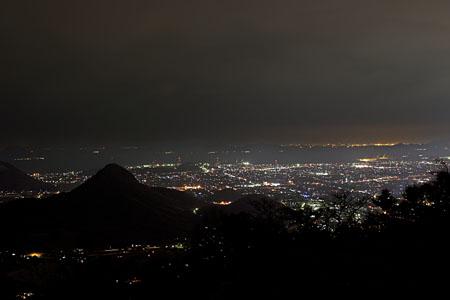 野田院古墳 展望台の夜景
