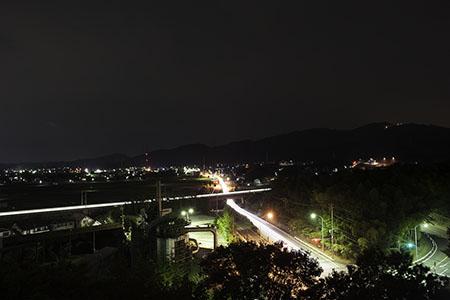 幸田文化公園の夜景