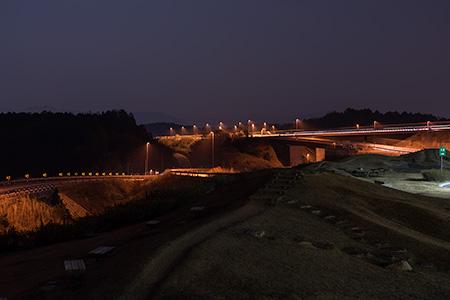 甲南PAの夜景