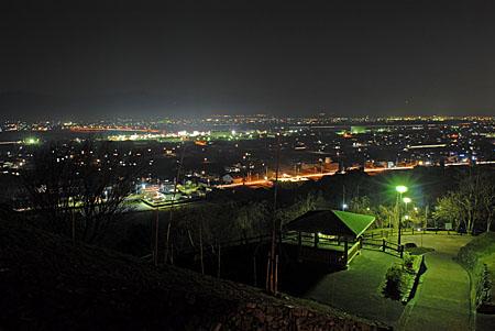 向麻山公園の夜景