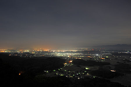 庚申山広徳寺の夜景