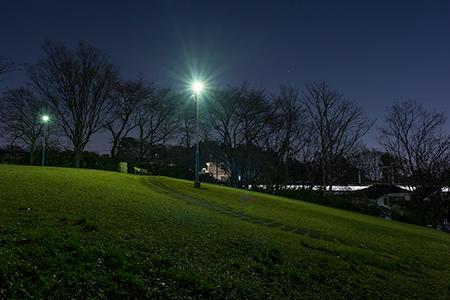 小山台遺跡公園の夜景