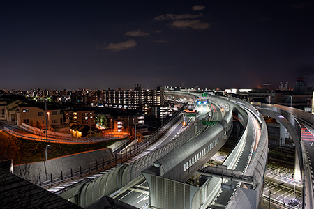 子安台公園の夜景