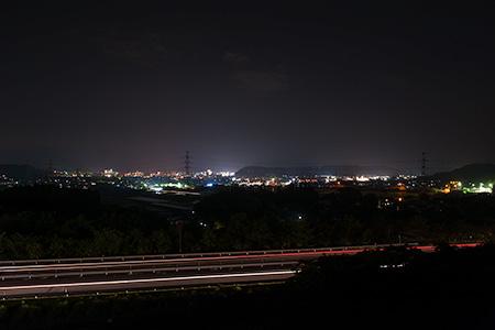 梢山工業団地 展望台の夜景