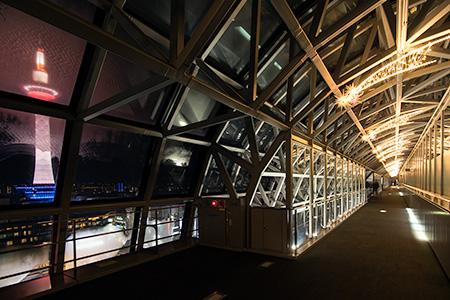 京都駅 空中経路の夜景