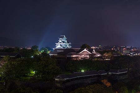 熊本市役所 14階展望ロビーの夜景