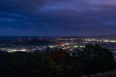 蜘ヶ家山の夜景