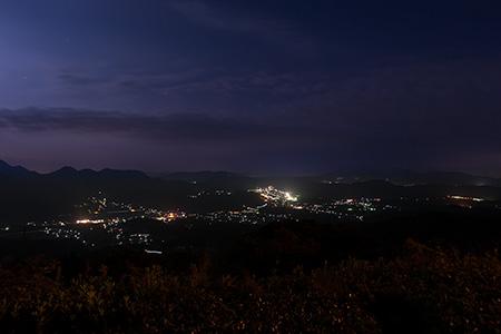 国見道路 展望所の夜景