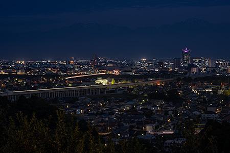 呉羽山公園展望台(立山あおぐ特等席)の夜景