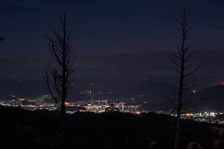 黒尊スーパー林道の夜景