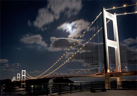 来島海峡展望館の夜景