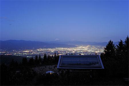 櫛形山 みはらし平の夜景