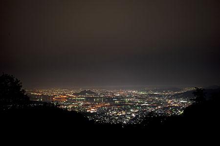 串掛林道の夜景