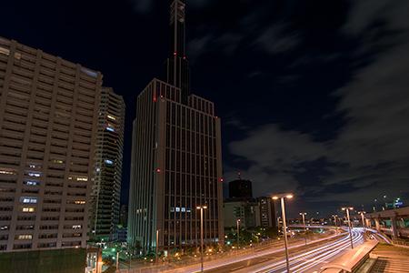 京橋PAの夜景