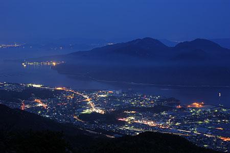 経小屋山の夜景