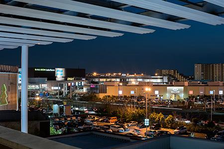 イオンレイクタウンの夜景