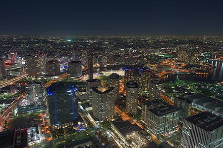 横浜ランドマークタワー スカイガーデンの夜景