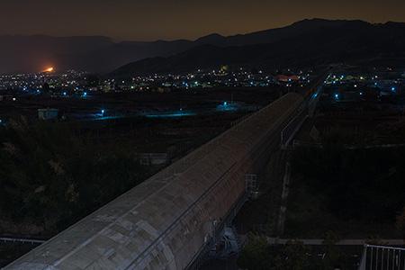 リニアの見える丘の夜景