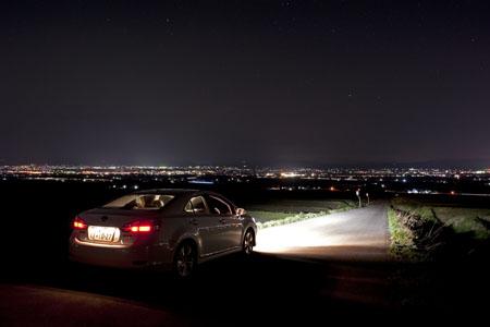 恋人坂の夜景