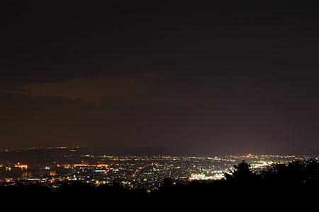 牧山市民の森 みはらし台の夜景