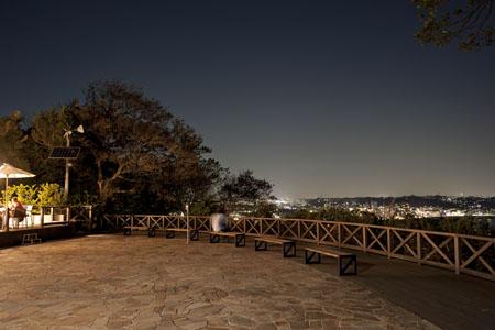 マイアミビーチ広場の夜景