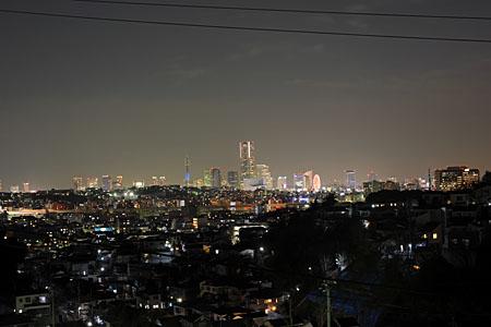 蒔田見晴らし公園の夜景