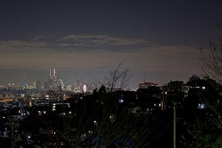 蒔田三度台公園の夜景