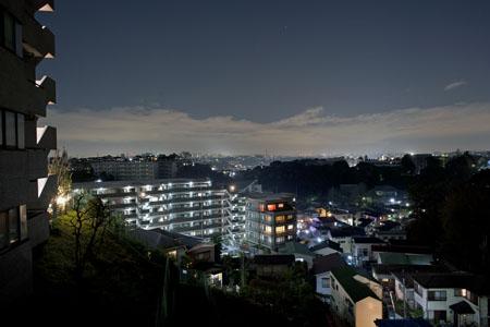 蒔田谷戸田上第二公園の夜景