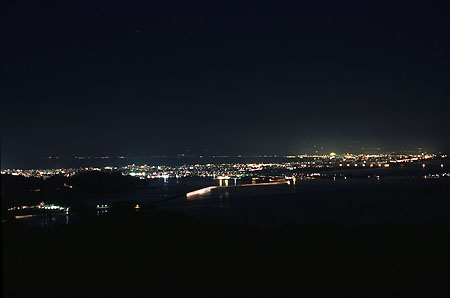 枕木山の夜景