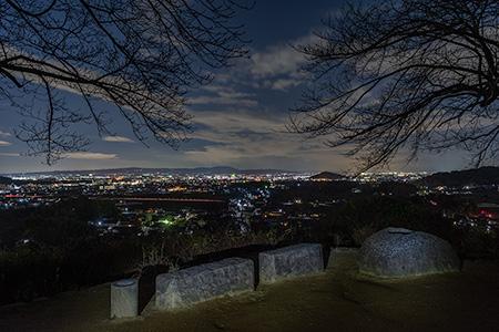 甘樫丘の夜景