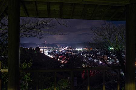 丸子山公園 展望台の夜景