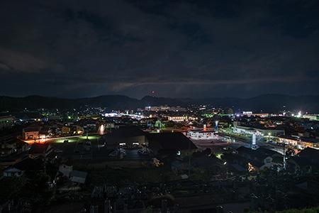 丸子山公園 風車の丘の夜景