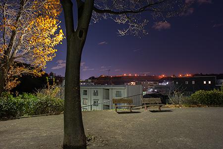 丸山1丁目公園の夜景