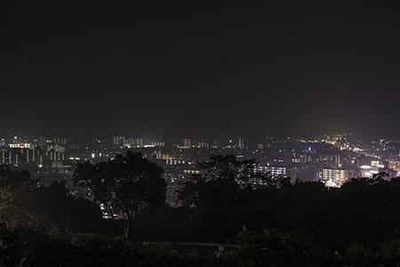 丸山墓地公園の夜景