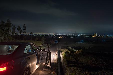 舛方城跡の夜景