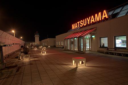 松山空港の夜景