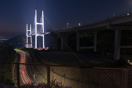 女神大橋の夜景