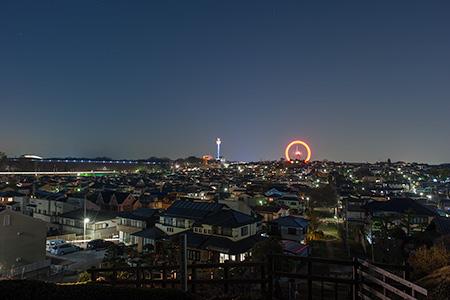 廻田の丘の夜景