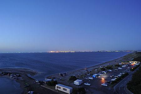 明治百年記念展望塔の夜景