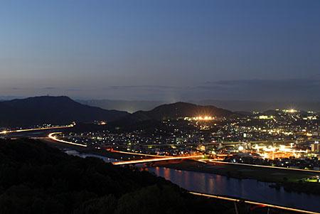 明王台の夜景